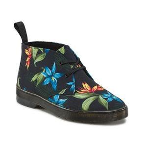 Dr martens Daytona in black Hawaiian floral s5